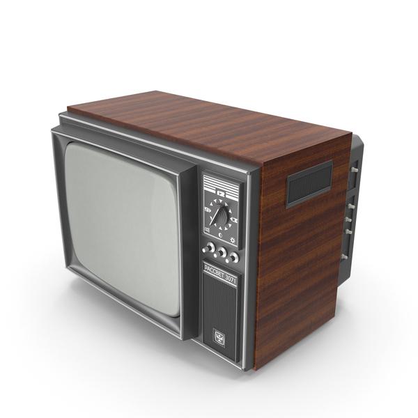 Retro TV Rassvet 3071 Crt PNG & PSD Images