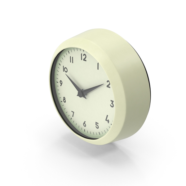 Retro Wall Clock PNG & PSD Images