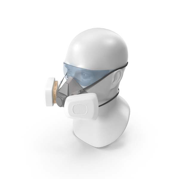Reusable Double Filters Respirator PNG & PSD Images
