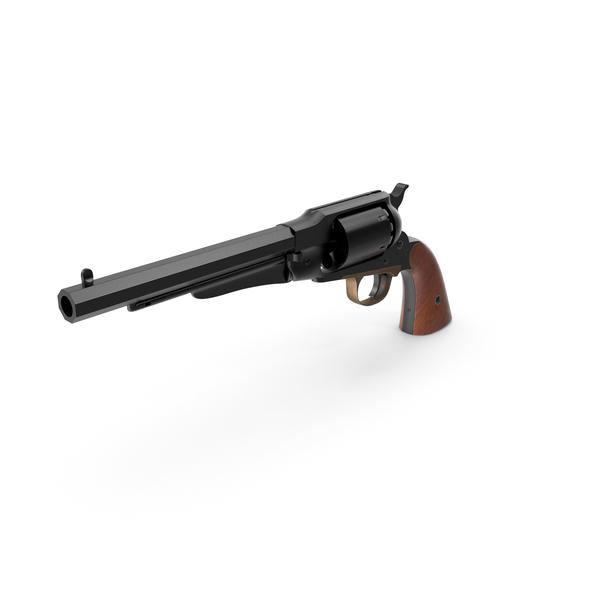 Revolver 1858 Black PNG & PSD Images