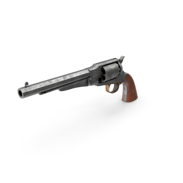 Revolver 1858 PNG & PSD Images