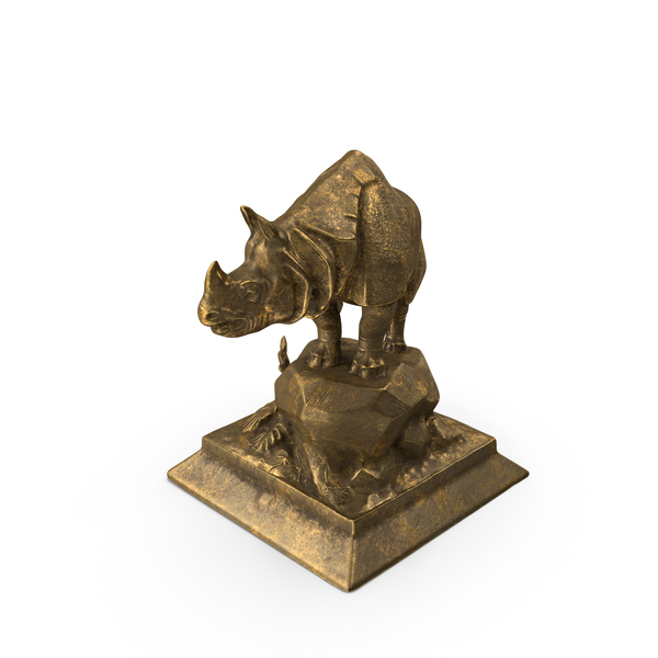 Animal: Rhino Statue PNG & PSD Images