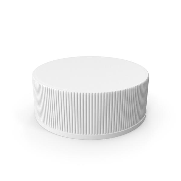 Bottle: Ribbed Plastic Cap PNG & PSD Images