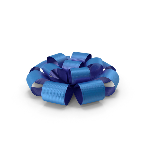 Ribbon Bow Gift Box Blue PNG & PSD Images