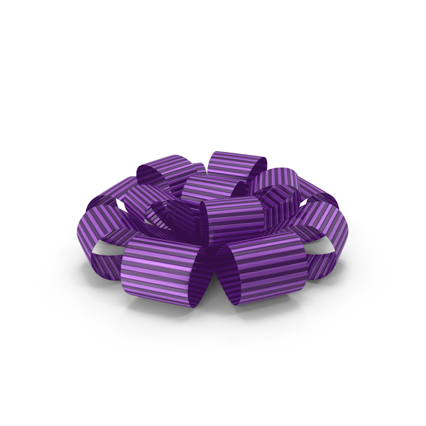 Ribbon Bow Gift Box Purple PNG & PSD Images