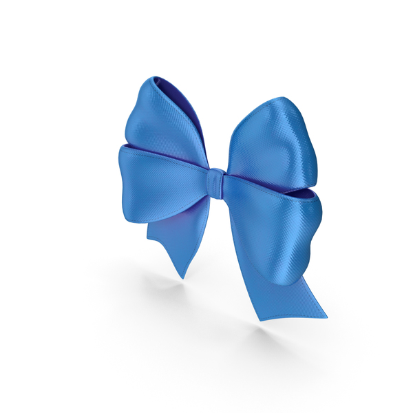Ribbon Bow Gift Decorative Blue PNG & PSD Images