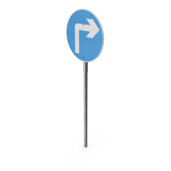 Traffic Signs: Right Turn Sign PNG & PSD Images