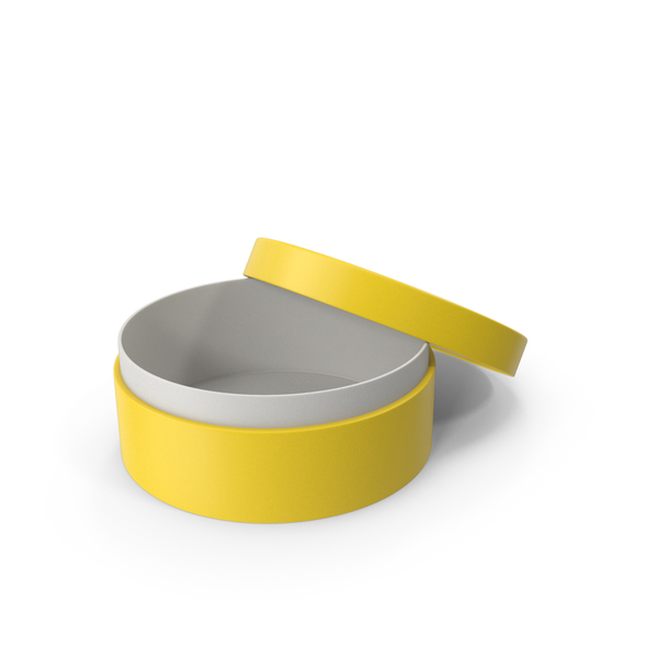 Jewelry: Ring Box Opened Yellow PNG & PSD Images