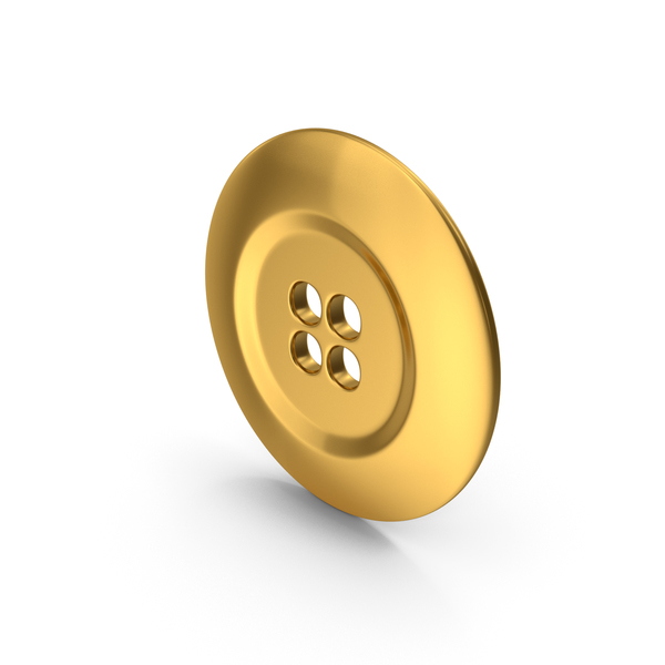 Ring Cloth Button Gold PNG & PSD Images