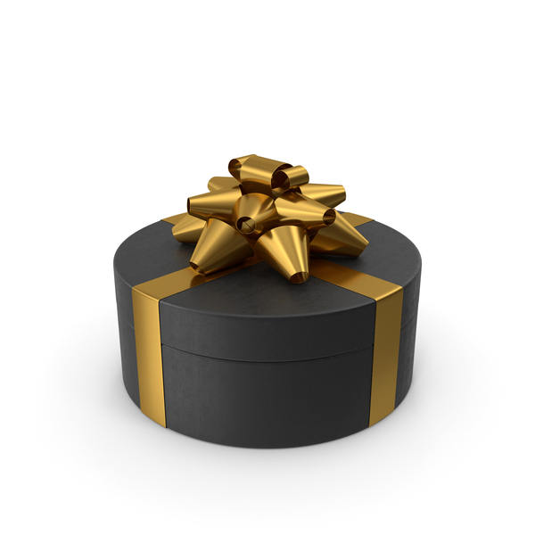 Bag: Ring Gift Box Black Gold PNG & PSD Images