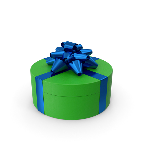 Bow: Ring Gift Box Green Blue PNG & PSD Images