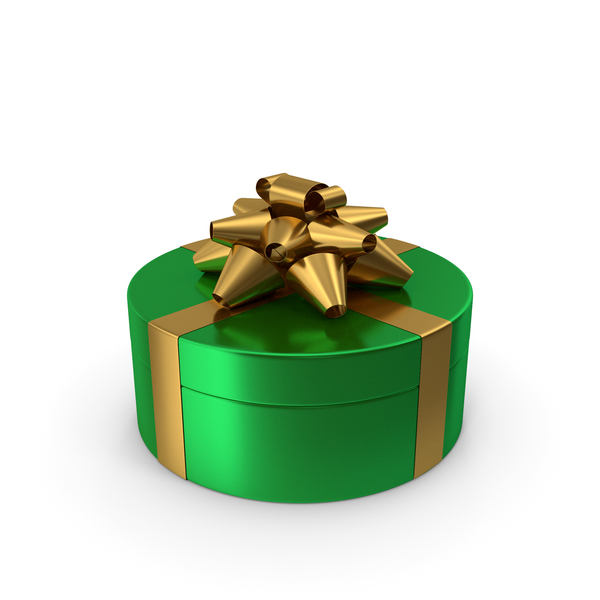 Bow: Ring Gift Box Green Gold PNG & PSD Images