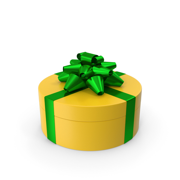 Bow: Ring Gift Box Green Yellow PNG & PSD Images