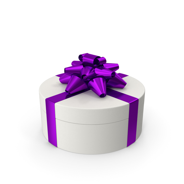 Ring Gift Box White Purple PNG & PSD Images