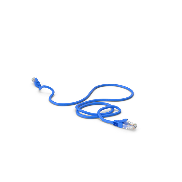 Connector: RJ45 Cable Blue PNG & PSD Images