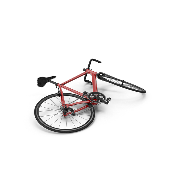 Bicycle: Road Bike Laying Down PNG & PSD Images