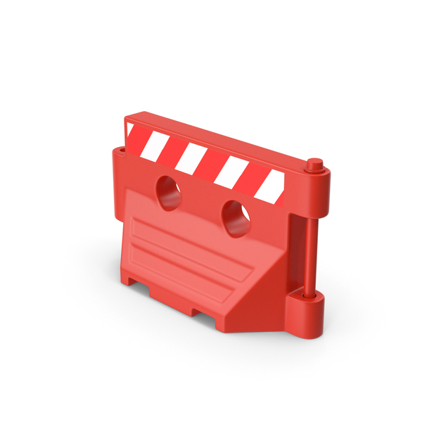 Road Plastic Barrier Red PNG & PSD Images