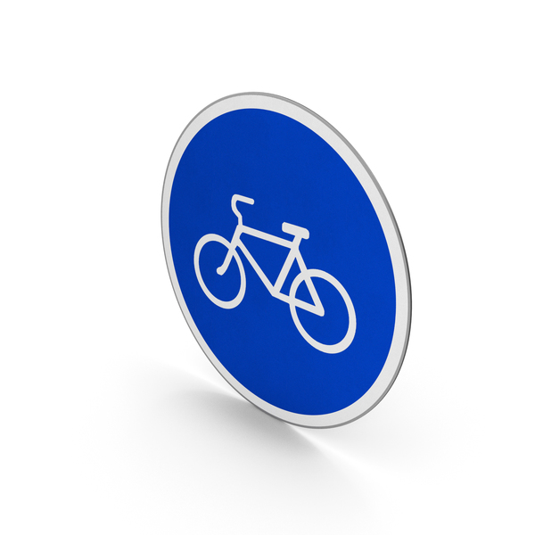 Traffic Signs: Road Sign Bicycles Only PNG & PSD Images