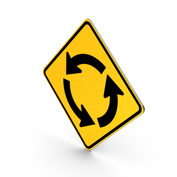 Road Sign Circular Intersection PNG & PSD Images