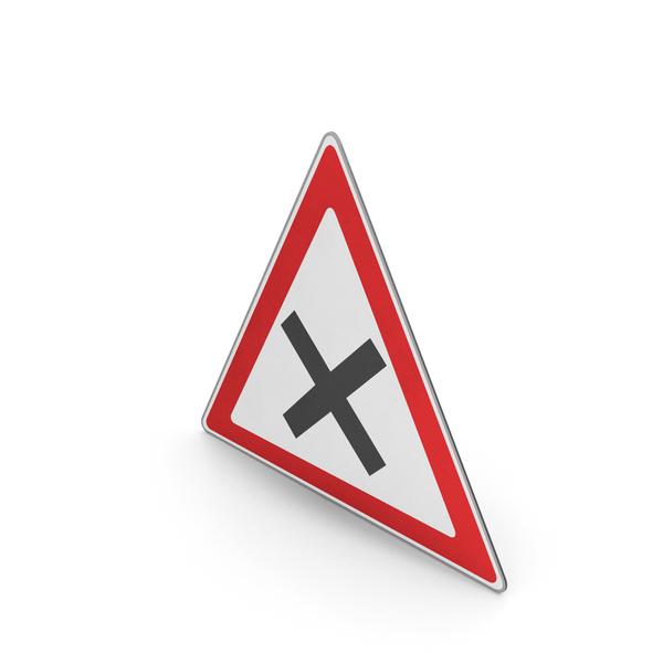 Urban Design: Road Sign Crossroad Ahead PNG & PSD Images