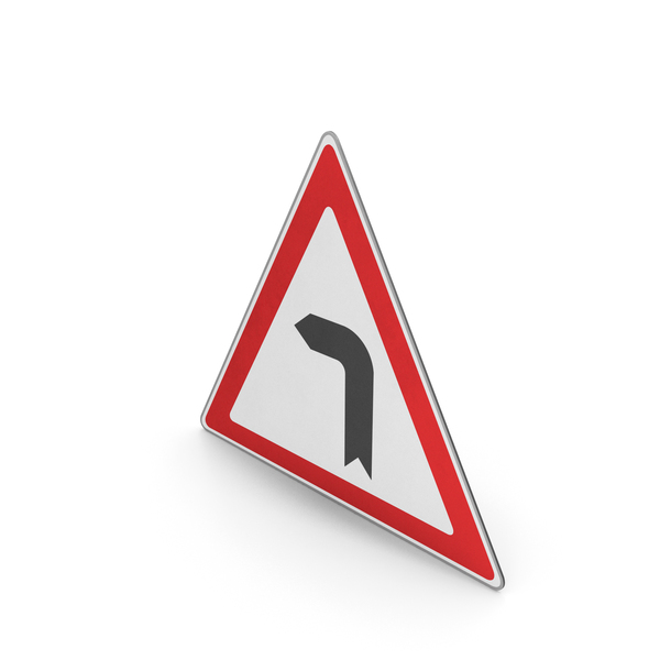 Road Sign Curve To The Left PNG & PSD Images