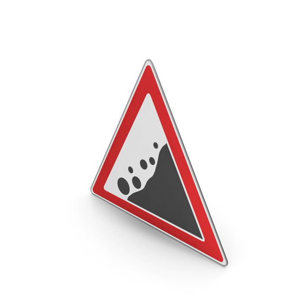 Road Sign Danger Of Falling Rocks PNG & PSD Images