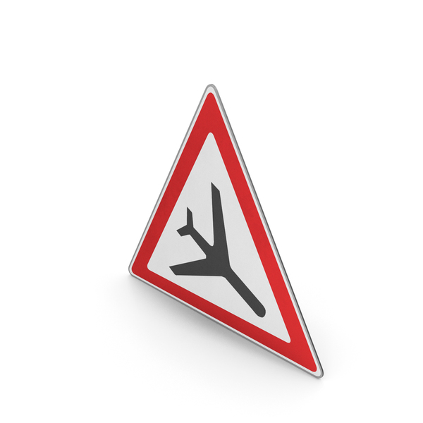 Road Sign Low-flying Aircraft PNG & PSD Images