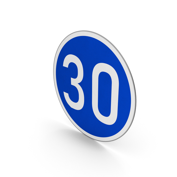 Road Sign Minimum Speed Limit 30 PNG & PSD Images