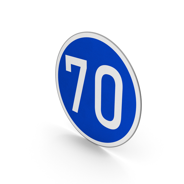 Road Sign Minimum Speed Limit 70 PNG & PSD Images