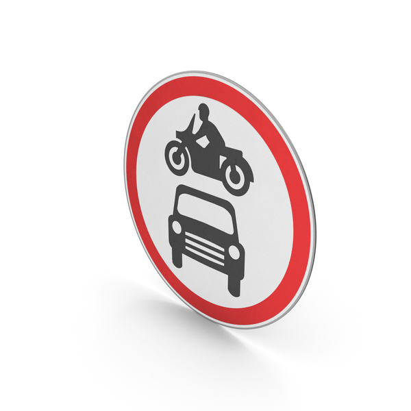 Road Sign No Motor Vehicles PNG & PSD Images