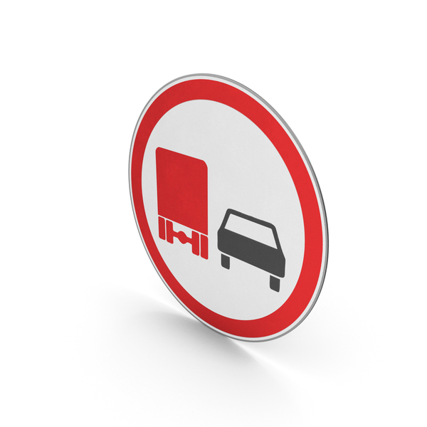 Traffic Signs: Road Sign No Overtaking For Goods Vehicles PNG & PSD Images