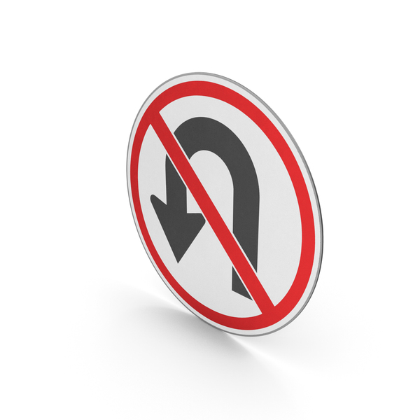 Road Sign No U-Turn PNG & PSD Images