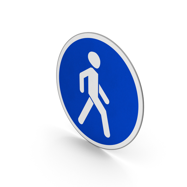 Traffic Signs: Road Sign Pedestrians Only PNG & PSD Images