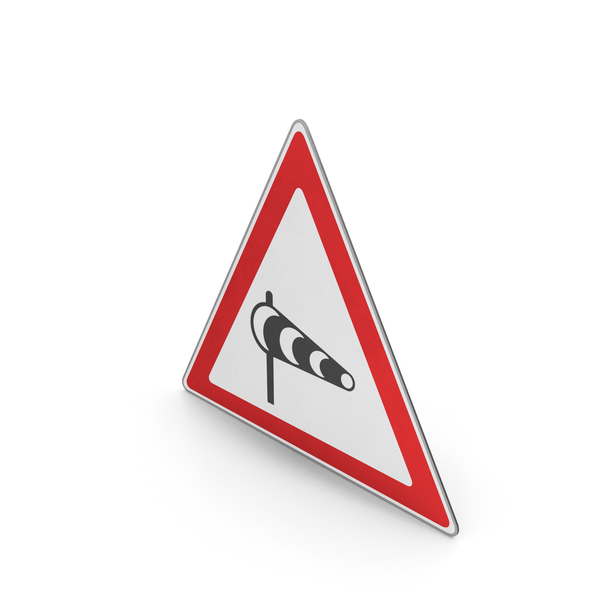 Road Sign Powerful Crosswinds Area PNG & PSD Images