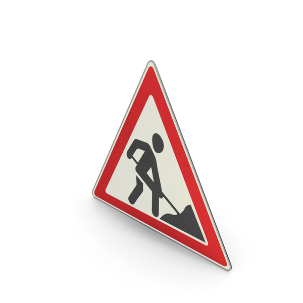 Urban Design: Road Sign Roadworks PNG & PSD Images