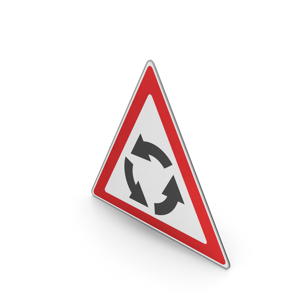 Road Sign Roundabout Ahead PNG & PSD Images