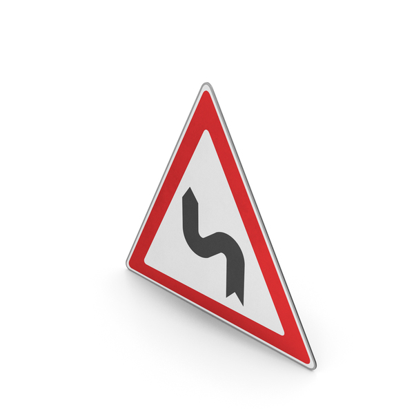 Urban Design: Road Sign Series Of Curves Left PNG & PSD Images