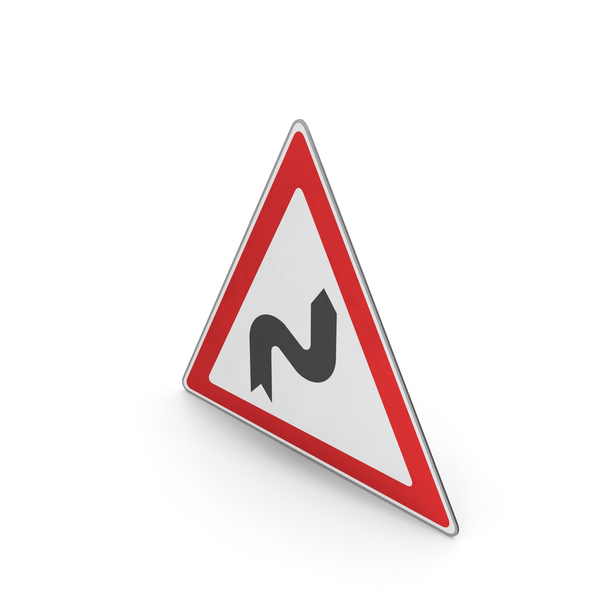 Road Sign Series Of Curves Right PNG & PSD Images