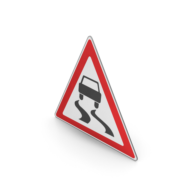 Road Sign Slippery Road Surface PNG & PSD Images