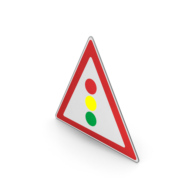 Road Sign Traffic Signals Ahead PNG & PSD Images