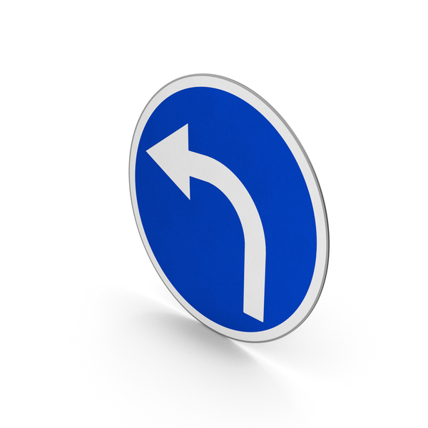 Road Sign Turn Left Only PNG & PSD Images