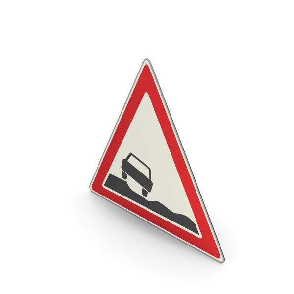 Urban Design: Road Sign Uneven Road Shoulder PNG & PSD Images