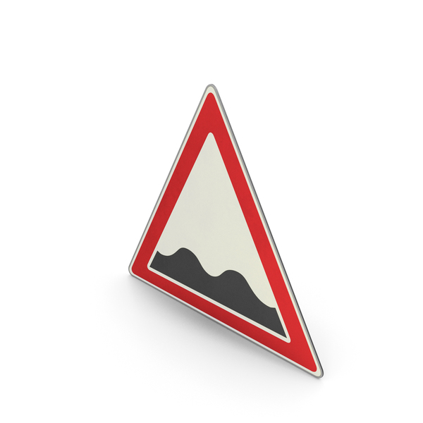 Road Sign Uneven Road Surface PNG & PSD Images