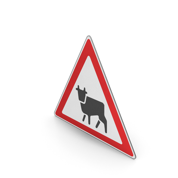 Road Sign Watch For Farm Animals PNG & PSD Images