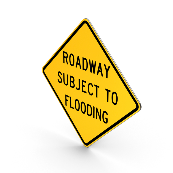 Roadway Subject To Flooding Pennsylvania Road Sign PNG & PSD Images