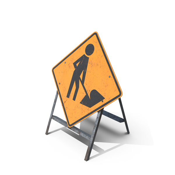 Roadwork Sign PNG & PSD Images