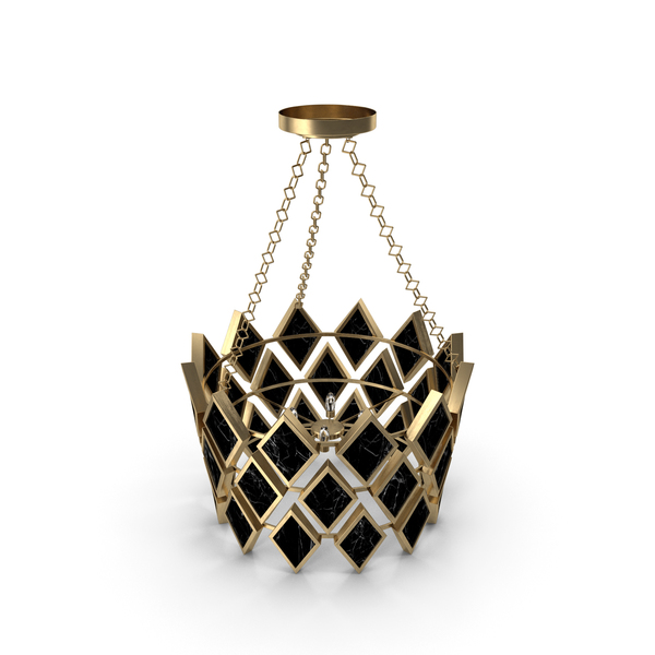 Robert Abbey Edward Pendant in Modern Brass Finish with Black Marble Accents 423 PNG & PSD Images