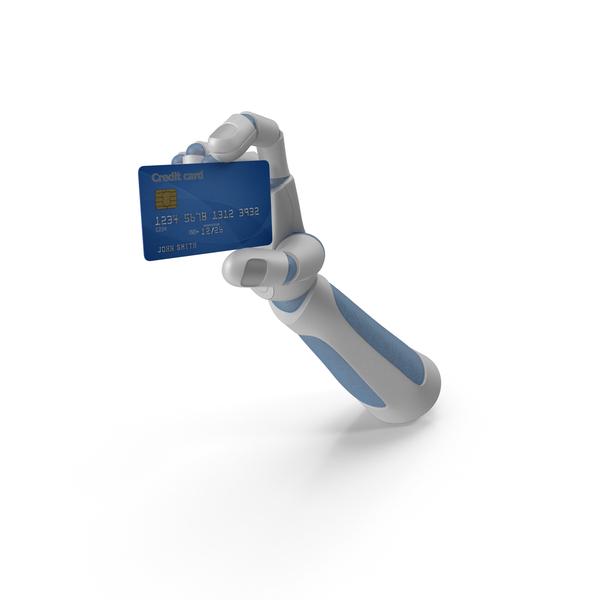 Terminal: Robohand Holding a Credit Card PNG & PSD Images