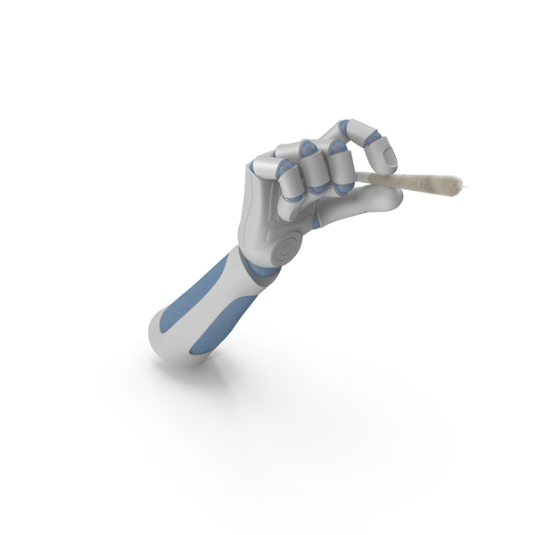 RoboHand Holding a Joint PNG & PSD Images