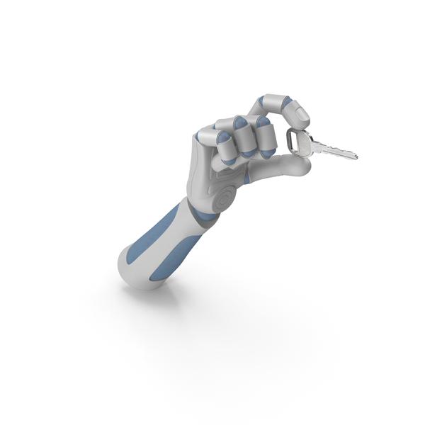 Robot: RoboHand Holding a Key PNG & PSD Images